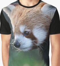 Cute Red Panda Photograph Graphic T-Shirt