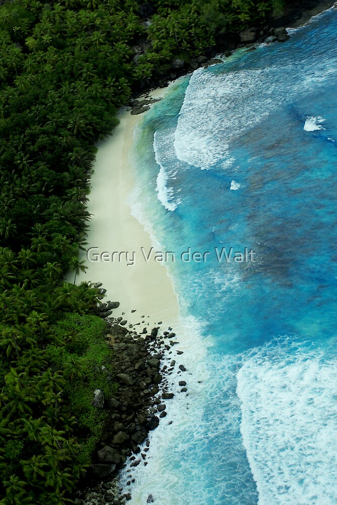Aerial View of Tropical Beach by Gerry Van der Walt