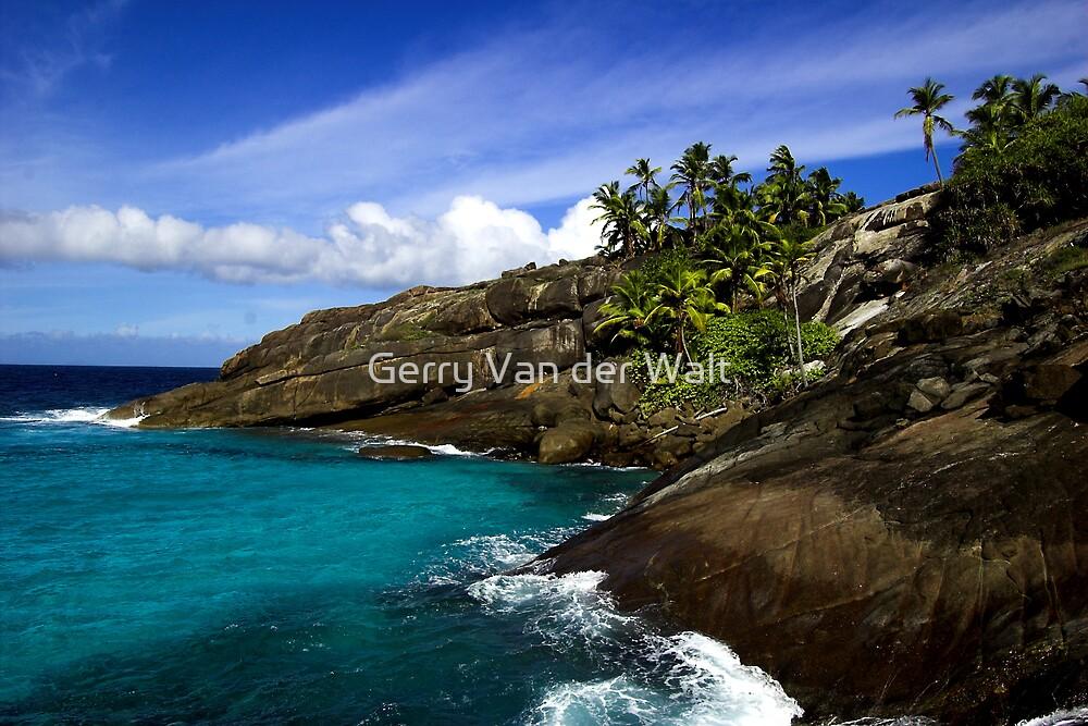 Tropical Island Scene by Gerry Van der Walt