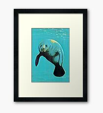 It's  Hugh Manatee Framed Print