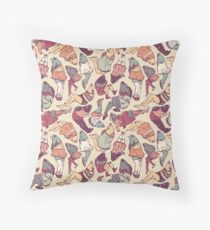 Peppy Springtime Legfish Pattern (Faded) Throw Pillow