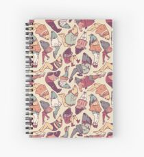 Peppy Springtime Legfish Pattern (Faded) Spiral Notebook