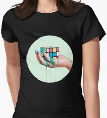 MELTING RUBIK Womens Fitted T-Shirt