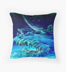 Book of Waves Throw Pillow