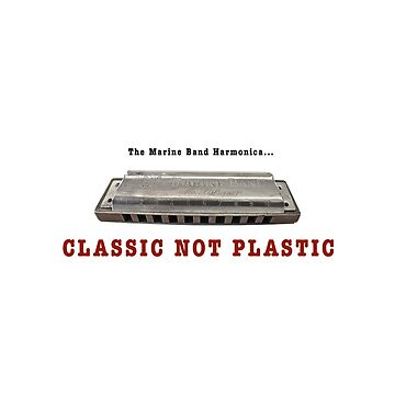 Harmonica Classic Not Plastic Sticker by whosekidding