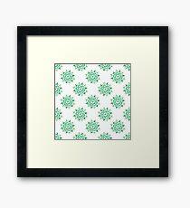 Greenery Mandala Doodle Framed Print