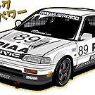 Civic EF3 - JTCC PIAA livery - Sticker by BBsOriginal