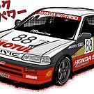 Civic EF3 - JTCC MOTUL livery - Sticker by BBsOriginal