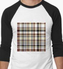 Plaid - Brown Men's Baseball ¾ T-Shirt
