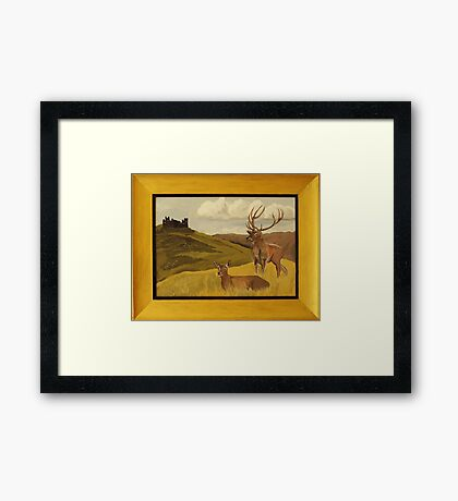 """Derbyshire View"" ART FRAUD EXPOSED! Framed Print"