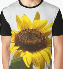 Sunflower with Bee Graphic T-Shirt