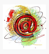 Email Internet @ Photographic Print