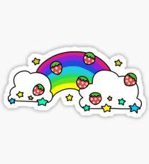 Strawberry Rainbow Sticker