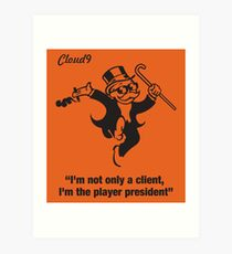 Spielerpräsident - Cloud 9 Edition Kunstdruck