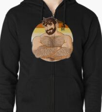 ADAM LIKES CROSSING ARMS - BEARPRIDE Zipped Hoodie