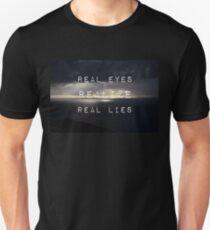 Flat earth,plane sight Unisex T-Shirt