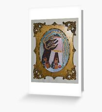Electrospots,Tesla and Wife Greeting Card