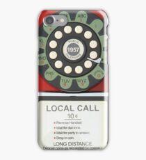 RETRO TELEPHONE - RED iPhone Case/Skin