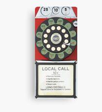 RETRO TELEPHONE - RED Canvas Print