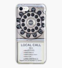 RETRO TELEPHONE - SILVER iPhone Case/Skin