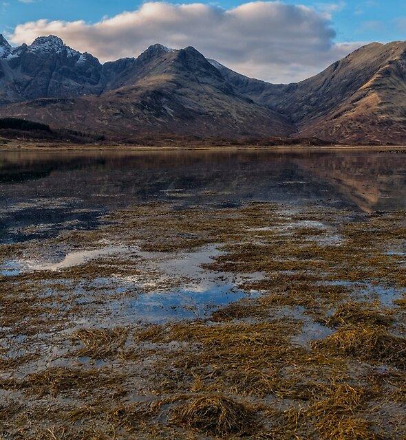Blaven and Clach Glas across Loch Slapin by derekbeattie