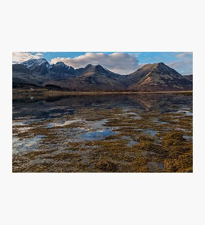 Blaven and Clach Glas across Loch Slapin Photographic Print