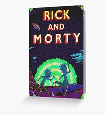 Rick and Morty Script Greeting Card