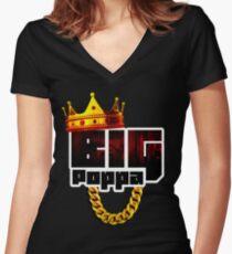 Big Poppa Women's Fitted V-Neck T-Shirt