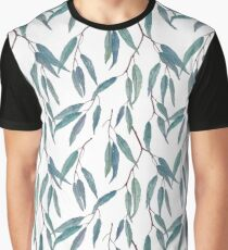 Eucalyptus leaves on white Graphic T-Shirt