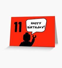 Happy 11th Birthday Greeting Card Greeting Card