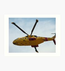 Rescue helicopter Art Print