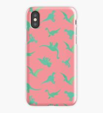 PINK DINOSAUR PATTERN iPhone Case/Skin