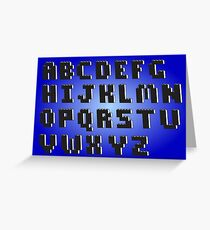 Brick Font Alphabet Greeting Card