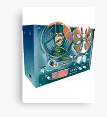 Analogue tape reel to reel Canvas Print