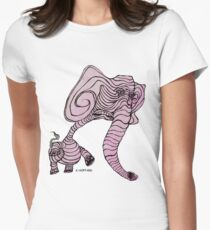Pink Elephant Women's Fitted T-Shirt