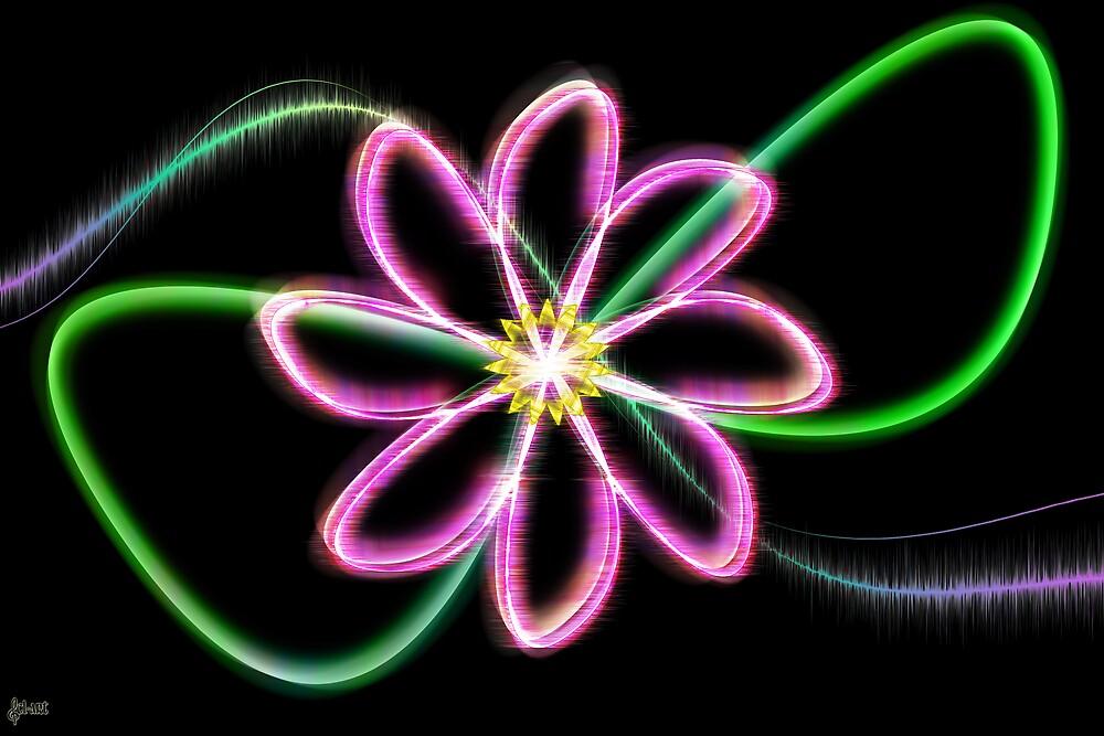 Neon Flower by DivaMom