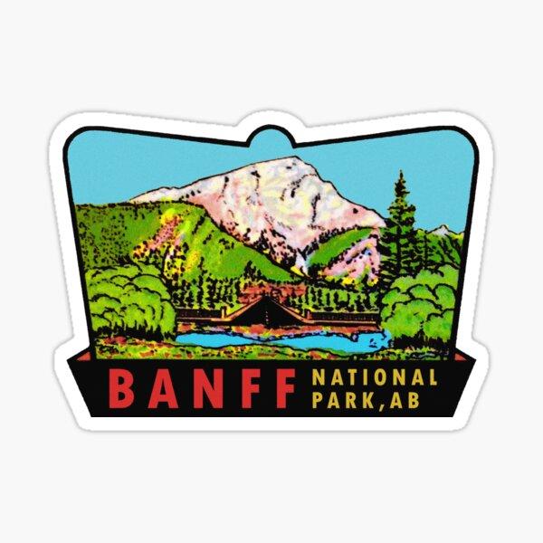 Banff Alberta Canada National Park Vintage Travel Decal Sticker