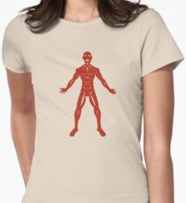 The Flayed Man Womens Fitted T-Shirt