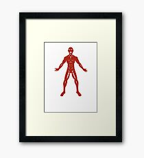 The Flayed Man Framed Print