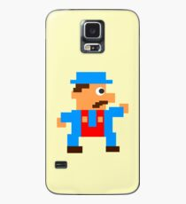 Retro Video Game Character in Pixels Case/Skin for Samsung Galaxy