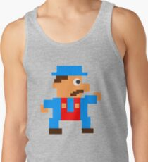 Retro Video Game Character in Pixels Tank Top