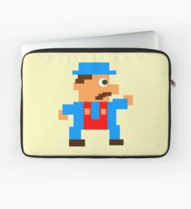 Retro Video Game Character in Pixels Laptop Sleeve