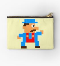Retro Video Game Character in Pixels Studio Pouch
