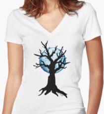 Season Trees: Winter Women's Fitted V-Neck T-Shirt