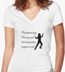 Inigo Montoya Women's Fitted V-Neck T-Shirt