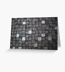 Grey Scale Squares Greeting Card