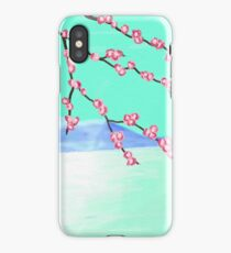 Cherry Blossom with Mountain iPhone Case/Skin