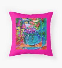 Summer Day Flowers Designer Gift Throw Pillow
