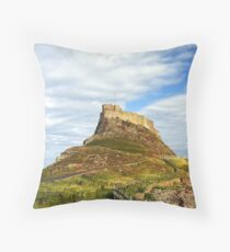 Lindisfarne Castle, Holy Island, Northumberland Throw Pillow