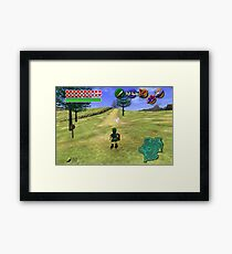 Ocarina of Time Young Link Framed Print